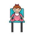 cute girl baby avatar character vector image
