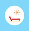 deck chair icon sign symbol vector image vector image