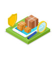 delivery logistics isometric 3d icon vector image vector image