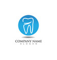 dental care logo and symbols template vector image vector image