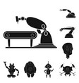 design of robot and factory logo set of vector image vector image