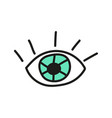 doodle eye icon vector image vector image