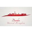 dundee skyline in red vector image vector image