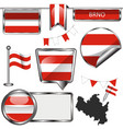flag brno czech republic vector image vector image