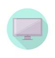 flat monoblock monitor personal computer vector image