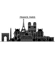 france ile de france paris architecture vector image