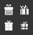gift box icon set grey vector image vector image