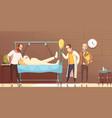 hospital patient visitors cartoon vector image vector image