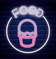 ice cream shop neon light label vector image vector image
