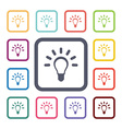 idea flat icons set vector image vector image