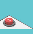 isometric red start button vector image