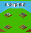 isometric road set of incomplete unfinished vector image vector image