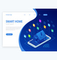 isometric smart home technology interface on vector image vector image