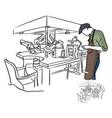 jeweler working in jewelery shop vector image