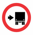 keep right traffic sign vector image vector image