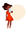 Little african american girl blowing her nose vector image vector image