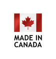 made in canada label tag template vector image vector image