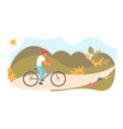 male cyclist rides a bicycle vector image vector image