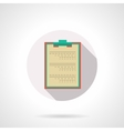 Medical clipboard flat color design icon vector image vector image