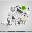 megaphone business style set 1 vector image vector image