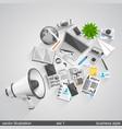 megaphone business style set 1 vector image