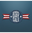 Memorial Day Sale festive Emblem with Ribbon vector image vector image