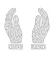 mesh care hands icon vector image vector image