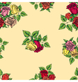 pattern of multicolored roses vector image vector image