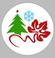pine holiday box vector image vector image