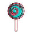 pink and blue lollipop icon cartoon style vector image vector image
