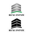Real estate building logo vector image vector image