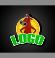 red angus cow logo vector image