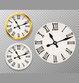 retro clock face tower wall clocks with roman vector image