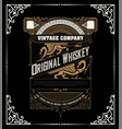 retro whiskey label layered vector image vector image