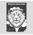 Saving nature lion head brochure template vector image vector image