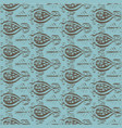 seamless ikat pattern brown and blue vector image