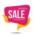 season sale label price tag banner sticker badge vector image vector image