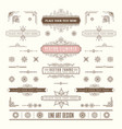 set linear thin line art deco retro vintage vector image vector image