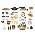 set pirate object tool on a white background vector image vector image