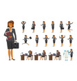smart business woman character vector image vector image