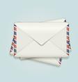 stack envelopes vector image