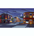 street town at night vector image vector image