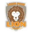 stylish logo with an image of a lion vector image vector image