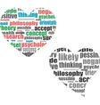 Text cloud Social media wordcloud Typography vector image vector image