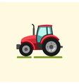 Tractor farmer machine vector image