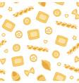 traditional italian pasta seamless pattern design vector image vector image