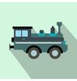 Train locomotive flat icon vector image vector image