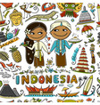 travel to indonesia seamless pattern for your vector image