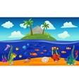 Underwater World Island Composition vector image vector image