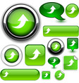 Upload green signs vector image vector image